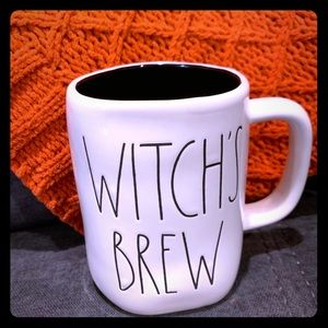 Rae Dunn witches brew mug black inside